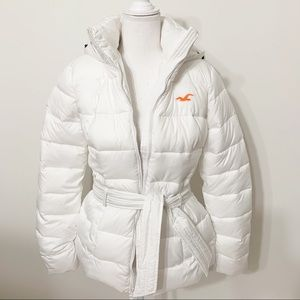 Hollister long Sleeve Hooded Puffer Jacket